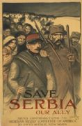 Vintage WW1 poster - Save Serbia, our ally